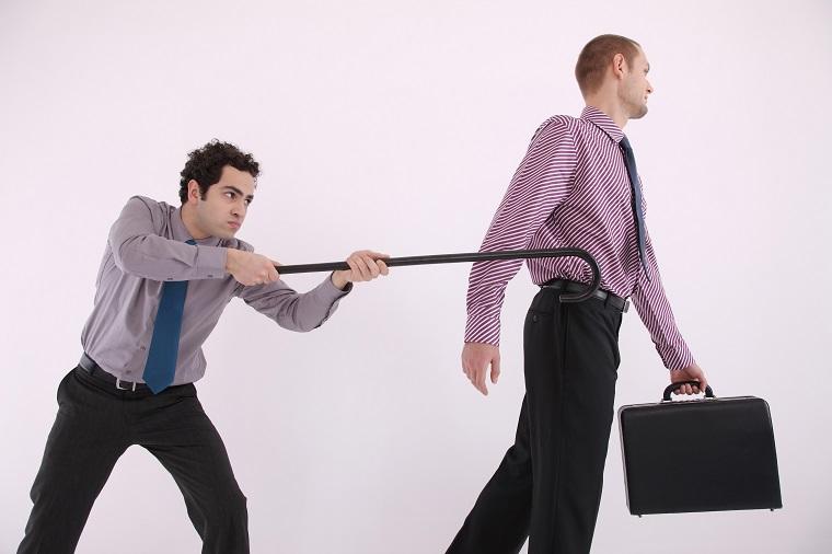 「杖」という意味の英語「stick」,「walking stick」の使い方