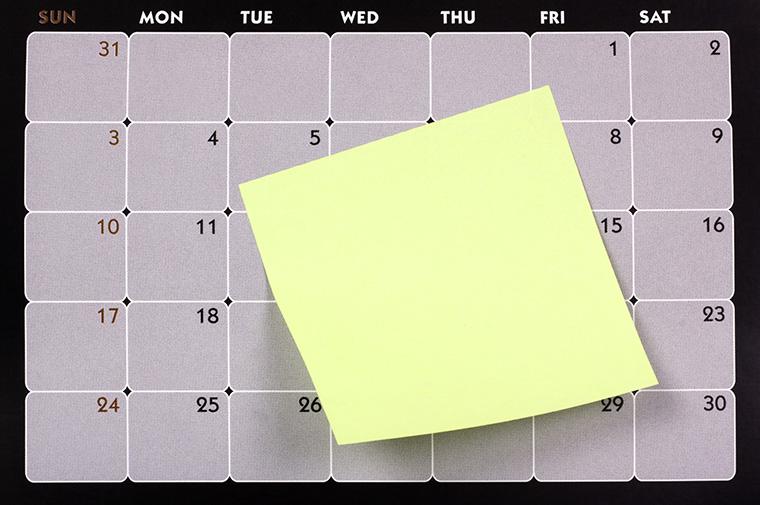 英語で曜日を書く際の省略の仕方